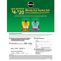 Home Depot Deal: Miracle Gro Gardening Soil - mail in After rebate