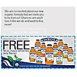 Free Bottle of Inko's Organic White Tea (coupon mailed to you)