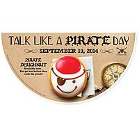 Krispy Kreme Deal: Krispy Kreme - Free Glazed Doughnut When You Talk Like a Pirate or Free Dozen When You Dress Like a Pirate 9/19