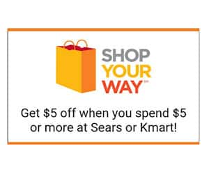 Shop Your Way Rewards – $5 off $5 Purchase at Kmart or Sears (Text)