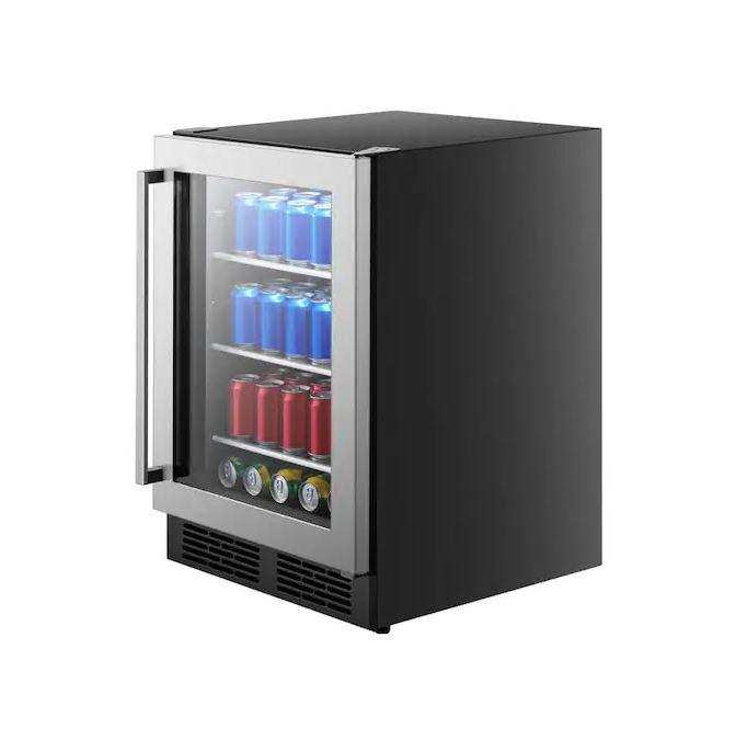 Hisense 140-Can Capacity (5.4-cu ft) Stainless Steel Freestanding/Built-In Beverage Refrigerator $399.99