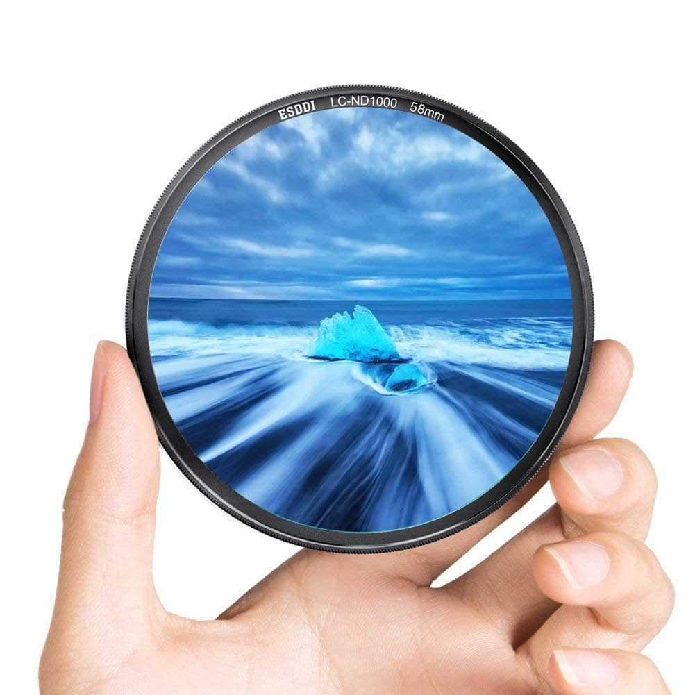 58mm ND 1000 Filter, Neutral Density MRCDark Black Aluminum Frame Lens for $5.69