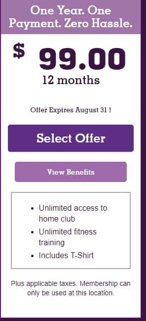 Planet Fitness $99.00 for a year promotion YMMV!!!! - Slickdeals.net