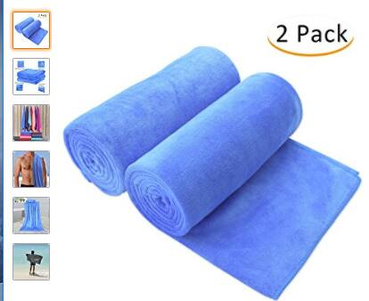"Bath Towel, Microfiber 2 Pack Towel Sets (30"" x 60"") FS w/ Prime $12.99"