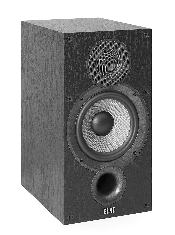 ELAC Debut 2.0 B6.2 Bookshelf Speakers, Black (Pair) $224.98