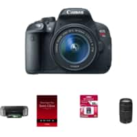 RitzCamera Deal: Canon EOS Rebel T5i 18-55 IS II + Pro 100 Laser Inkjet Printer + 50 Pack 13X19 Semi-Gloss Paper +Transcend 32GB SDHC Card Class 10+Canon EF 75-300mm f/4-5.6 III Zoom $639.00 AR