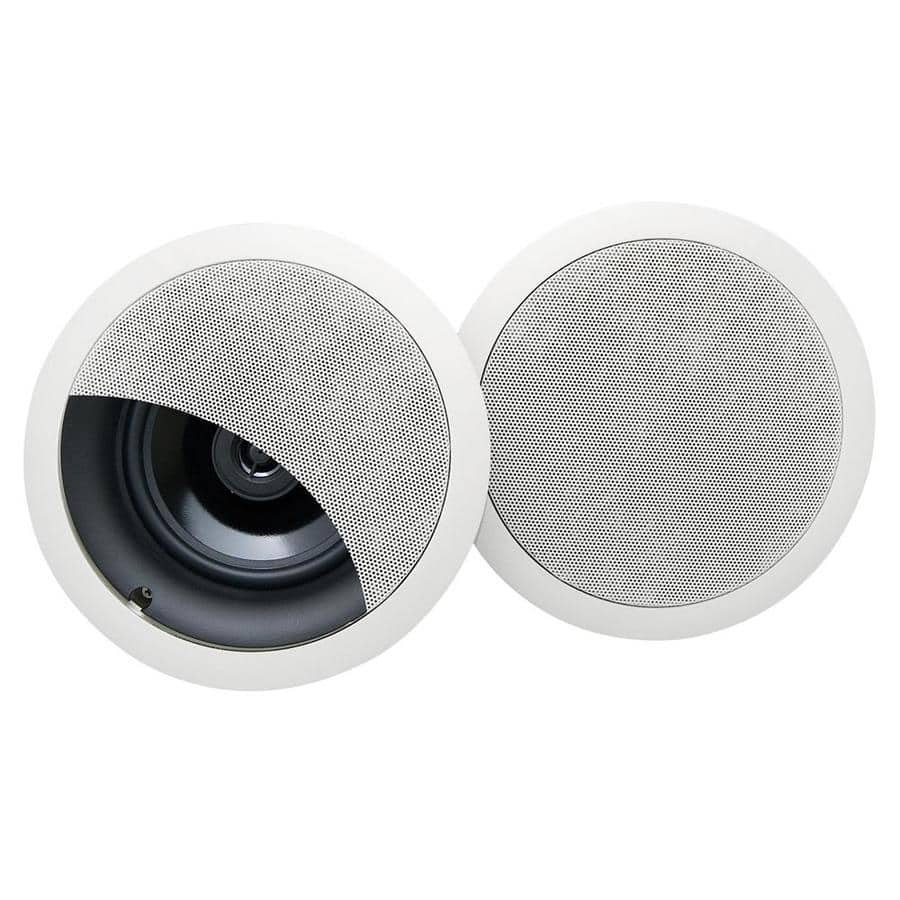On-Q/Legrand Set of 2 100-Watt 6.5-in Round In-Ceiling Speaker Item # 248221 Model # 364764-02-V1 (17) Aisle 6 Bay 24 CLEARANCE $17.99Was $71.98