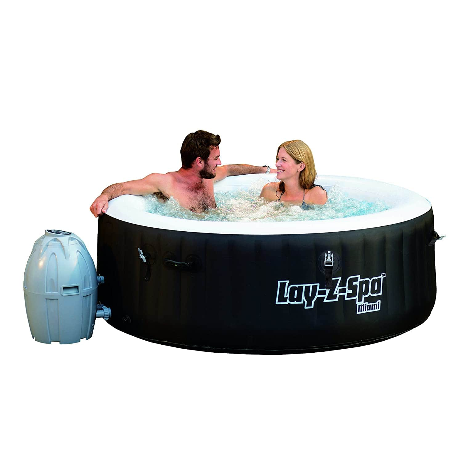 Bestway SaluSpa Miami Inflatable Hot Tub, 4-Person AirJet Spa - $259.99