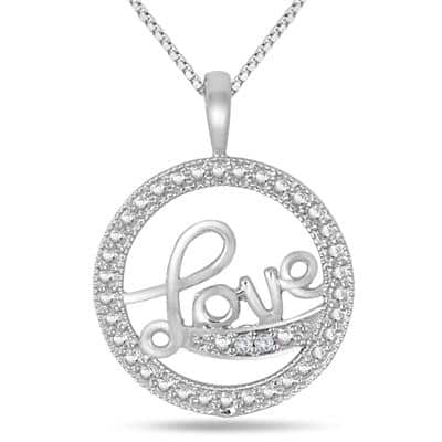 Diamond Love Pendant Necklace $8.88 + free shipping Szul Chinese New Year Sale - necklaces, earrings, rings, and more