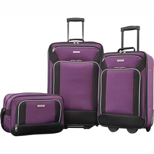 American Tourister Fieldbrook XLT 3 Piece Set - Purple Open Box $39.99 + Free Shipping
