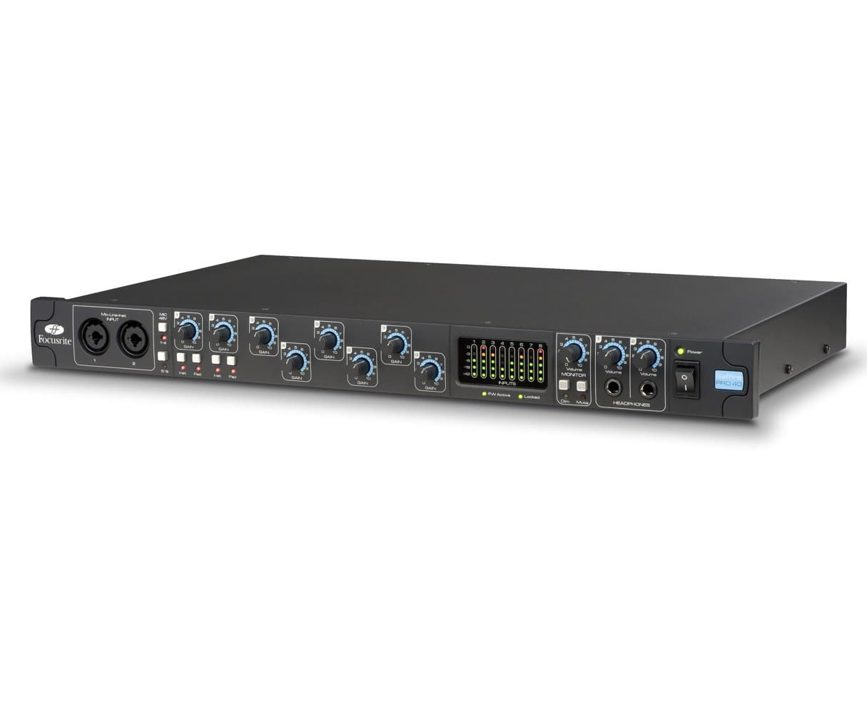 Focusrite Saffire Pro 40 Firewire Interface (Thunderbolt 2 compatible) - $199.99 (reg $399.99)