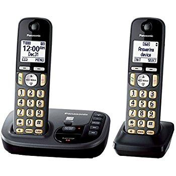 Amazon: Panasonic KX-TGD222M Cordless Phone w/ Answering Machine- 2 Handsets - $36