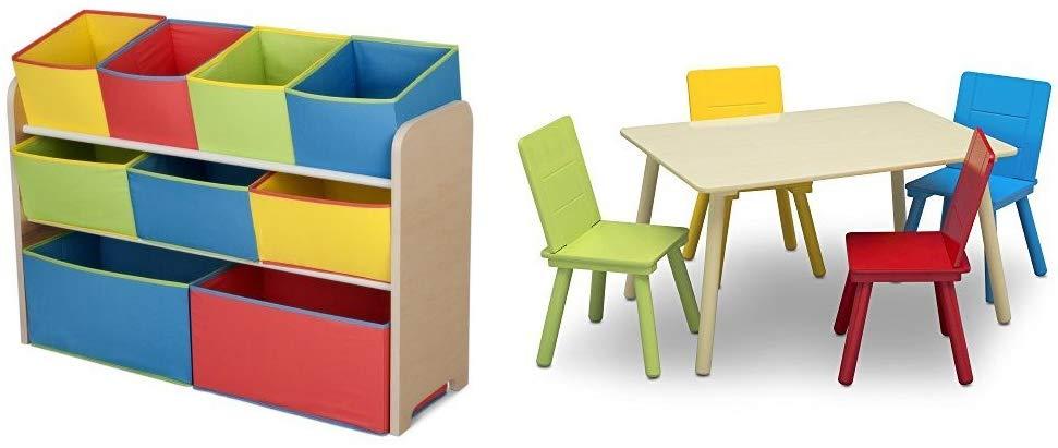 Delta Children Deluxe Muti Bin Toy Organizer Kids Table Set