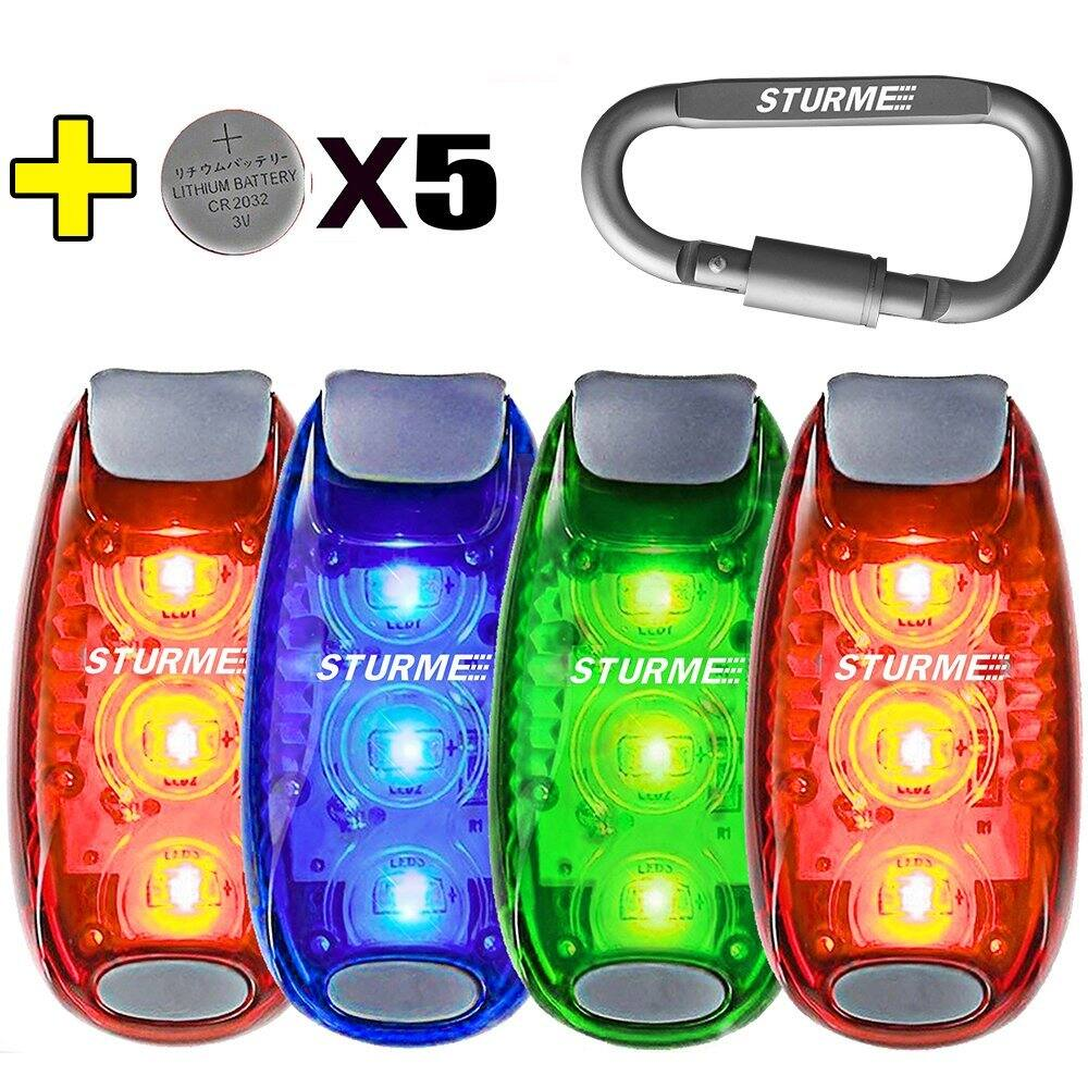 LED Safety Light Strobe lights (3 or 4 pack with 5 extra batteries) $6.49