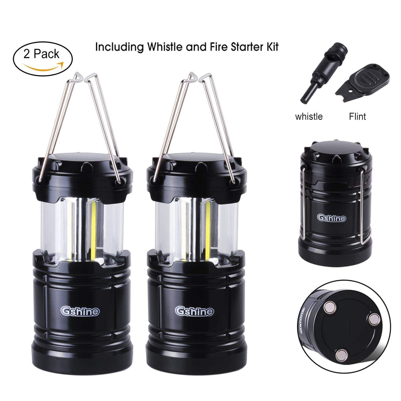LED Lantern Lights with Magnetic Base 2 Pack $9.49 AC