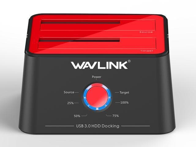 Wavlink USB 3.0 to SATA Dual Bay Hard Drive Docking Station $20.99 @Newegg