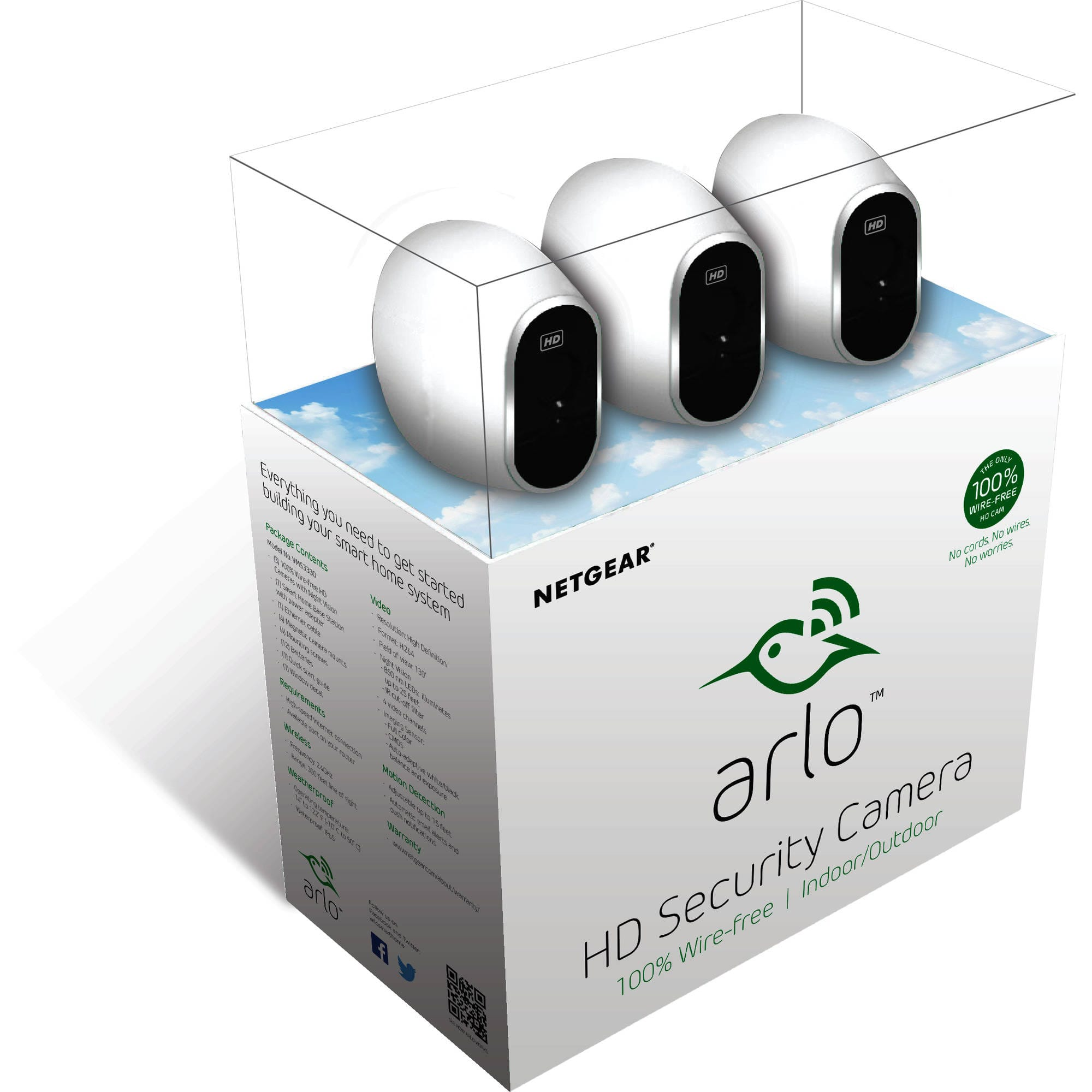 Arlo HD Security Camera 3 cams VMS3330 - $199 99 Walmart BM