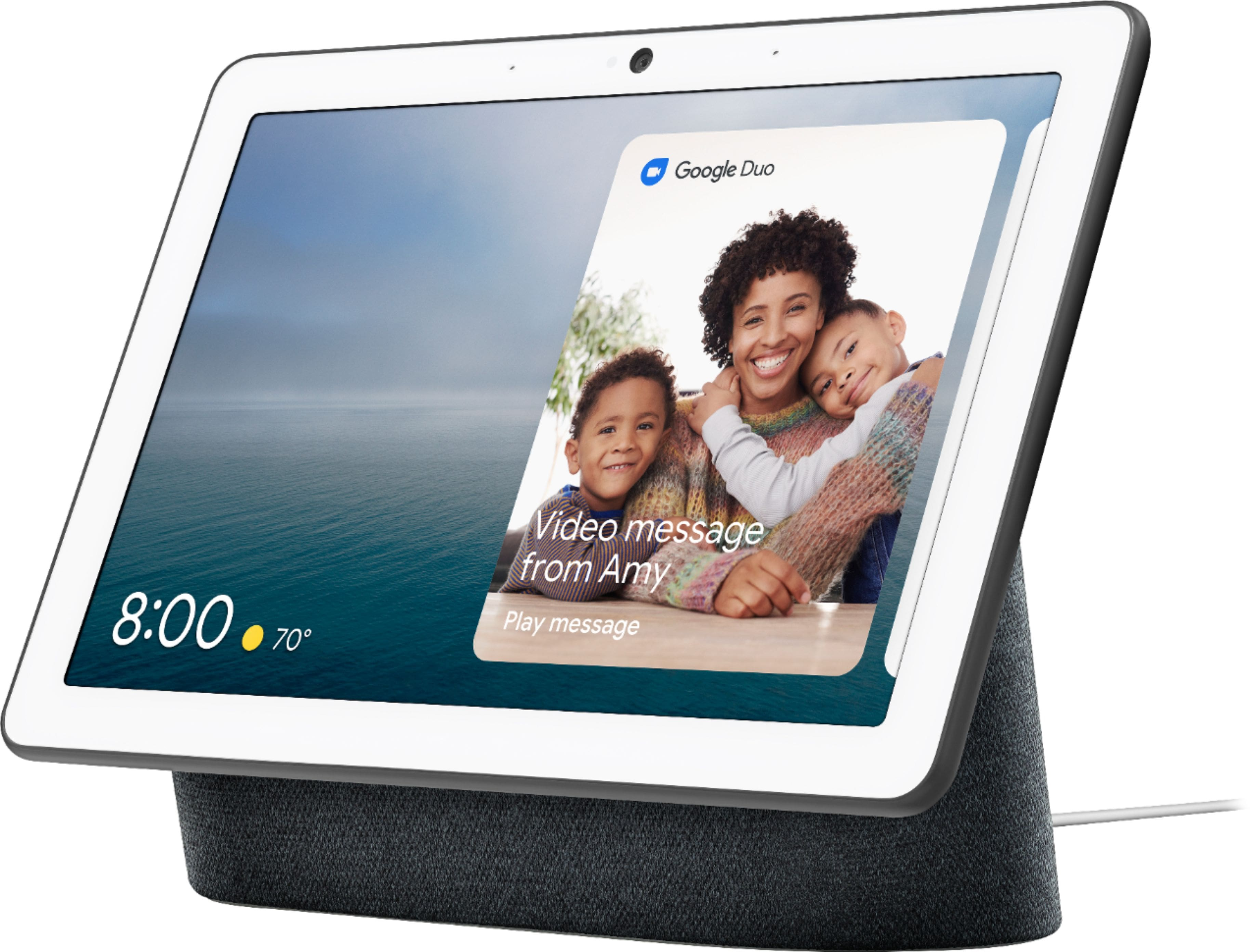 Google - Nest Hub Max with Google Assistant - Charcoal $199.99