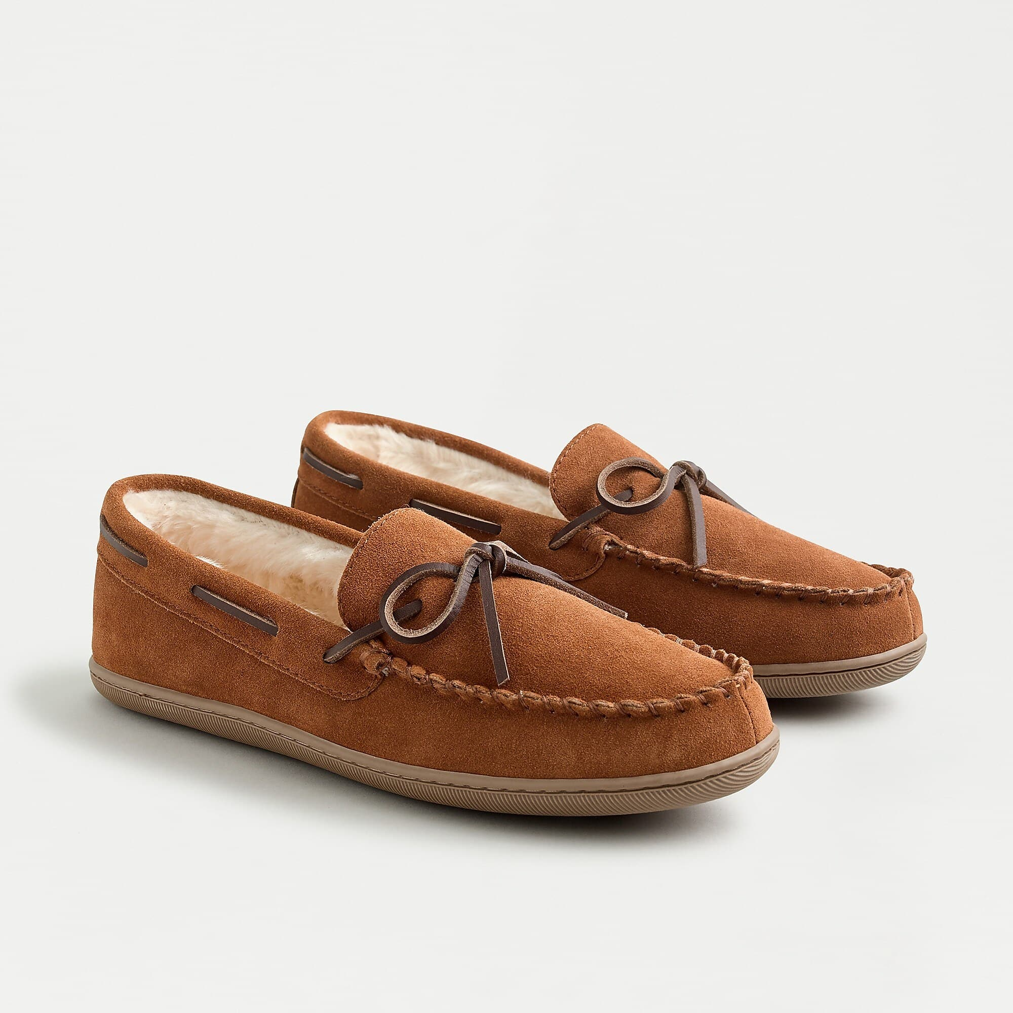 Classic suede moccasin slippers (J. Crew) $16.66