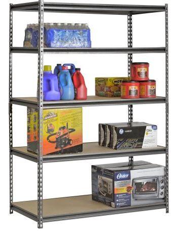 "Muscle Rack 5-Shelf Steel Shelving, Silver-Vein, 24"" D x 48"" W x 72"" H  + pickup discount   : $53"