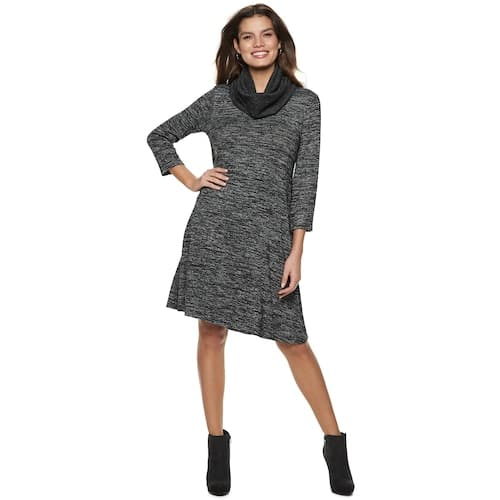 Kohl's (charge card reqd.) Women's Apt. 9® Ribbed Scarf Shift Dress $7
