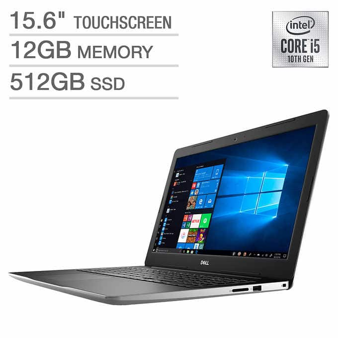 Costco: Dell Inspiron 15 3000 Series Touchscreen Laptop - 10th Gen Intel Core i5-1035G1 - 1080p - Silver - 512GB SSD, 12GB RAM (2/19-2/26) $530
