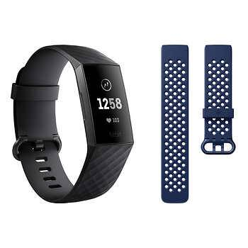 Fitbit Charge 3 Activity Tracker Bundle, Graphite $89.99