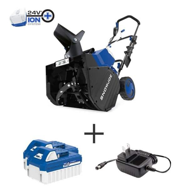 Snow Joe 18 in. 48-Volt Cordless Electric Snow Blower Kit with 2 x 4.0 Ah Batteries + Charger $260