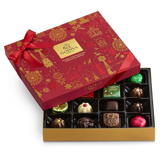 Godiva - Up to 70% Off Sale: Assorted Chocolate Holiday Gift Box, 16 pc. $10.48 (Org $35) & More
