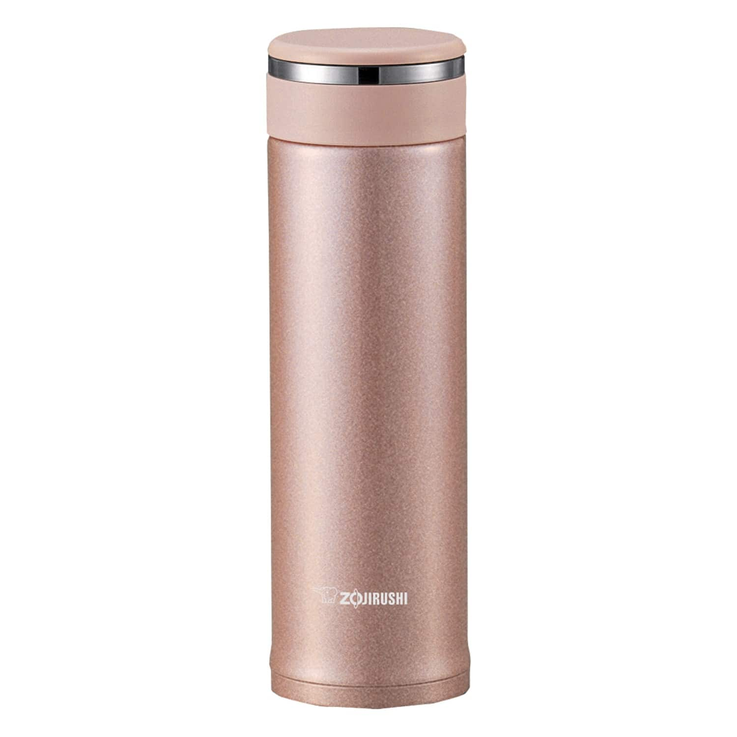 Zojirushi SM-JTE46PX Stainless Steel Travel Mug With Tea Leaf Filter, 16 Ounce, Pink Champagne