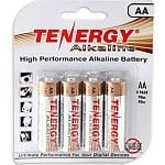 Tenergy 4 AA Alkaline Batteries - $0.29 Free Store Pick up or $2.99 Shipping @ Fry's - 40 AA Batteries for $2.90