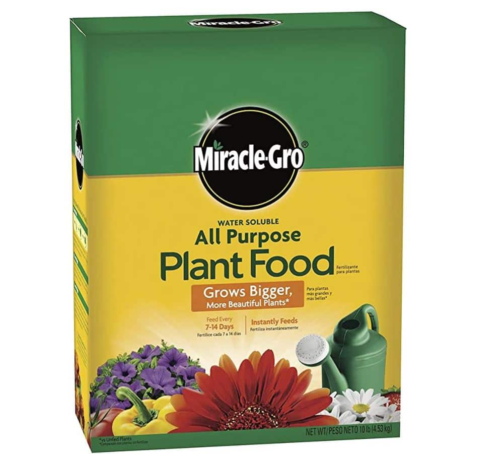 Amazon DOTD: 47% off 10-lb. Miracle-Gro Water Soluble All Purpose Plant Food (Plant Fertilizer) 1001193, 3001192 $15.98