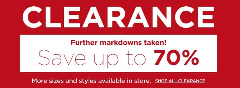 Kohl's: Save on Clearance Items - Up to 70% Off
