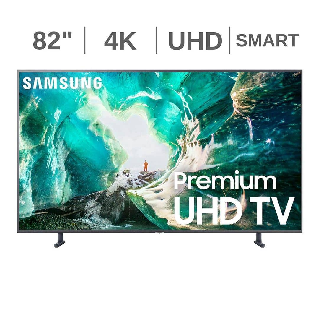 "BJs Wholesale: $400 Samsung UN82RU800D 82"" 4K UHD HDR Smart TV with White Glove Delivery $2579.99"
