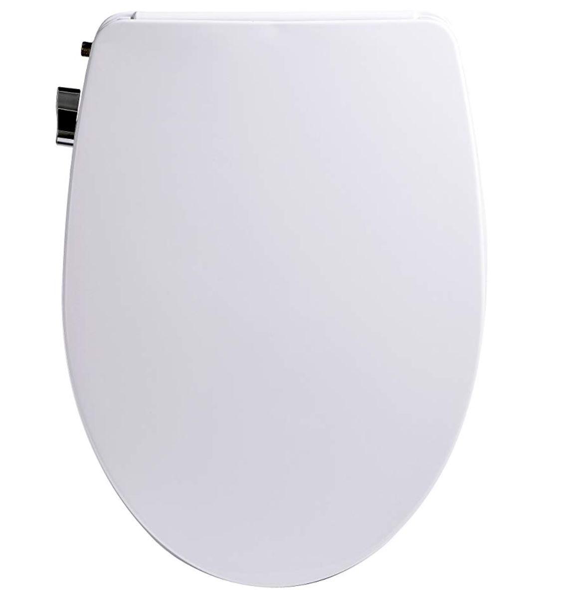 Bio Bidet Slim Zero-Non Electric Bidet Seat for Elongated Toilet via Amazon