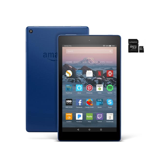 """New QVC Customers: Amazon Fire 8"""" HD Wi-Fi Tablet w/ 32GB SD Card $45 + FS"""