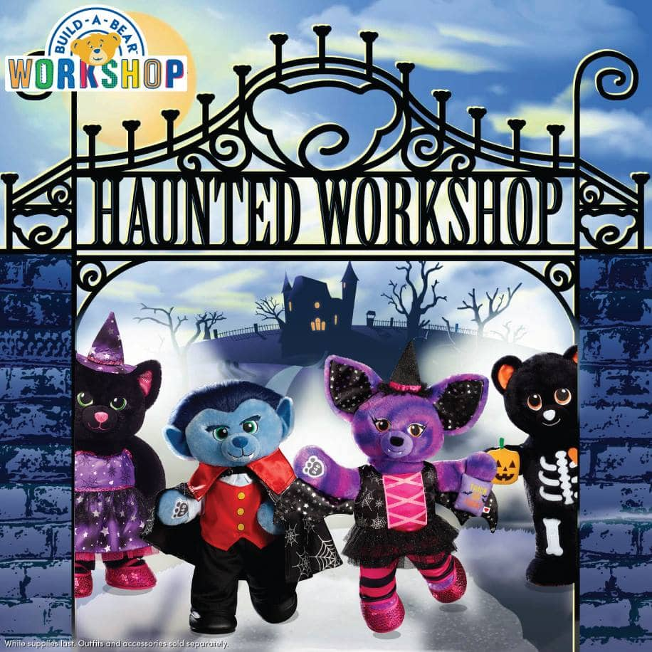 Free Haunted Workshop Halloween Weekend at Build-A-Bear on 10/28 and 10/29