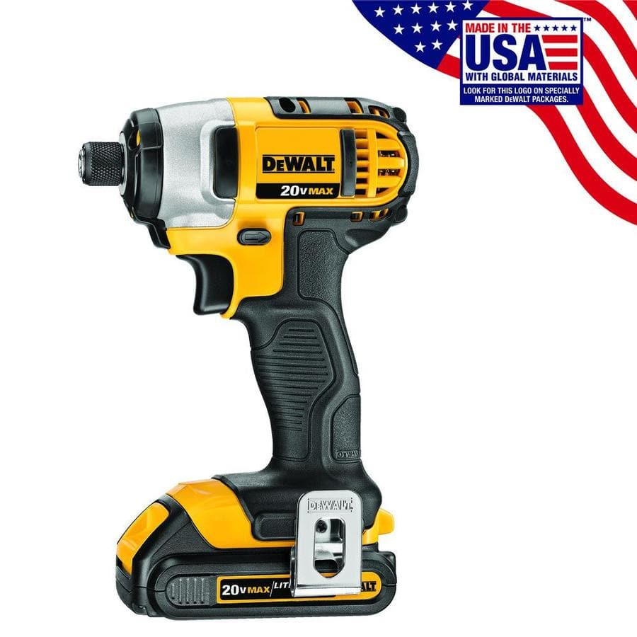DEWALT-20-Volt-Max-Variable-Speed-Cordless-Impact-Driver-2-Battery pack $59 lowes YMMV