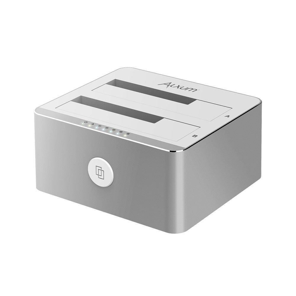 Alxum Aluminum USB 3.0 to SATA Dual Bay HDD SSD Docking Station $20.99 AC @ Amazon