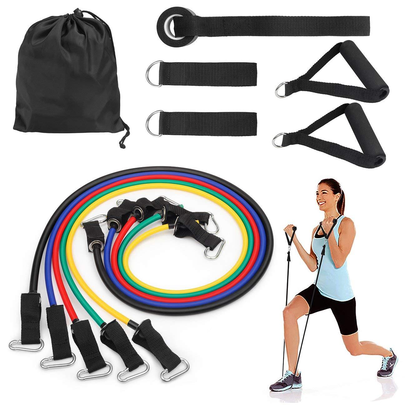 Resistance Band Exercise Set - 15.59 AC + Amazon Prime FS $15.59
