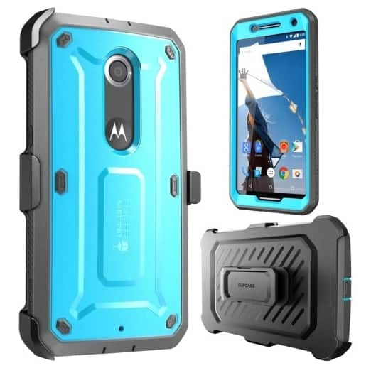 Unicorn Beetle PRO Full body Rugged Hybrid Protective Case w/ Screen Protector for Google Nexus 6 - Blue for $7.79 Shipped free from Best Buy MP.