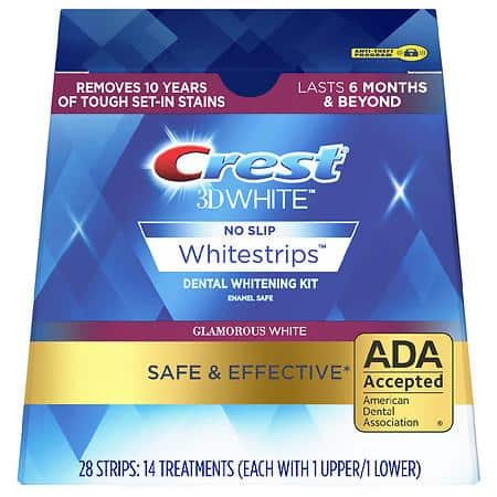 Crest 3D Whitestrips Glamorous White Teeth Whitening Kit (3 for $60.59 before tax + free shipping)