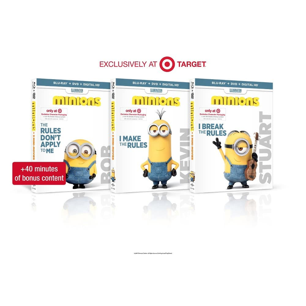 Minions (Blu-ray/DVD) (Digital Copy) preorder, $5 rewards, minion lunch bag, Free Cinema Now digital download: $17.99