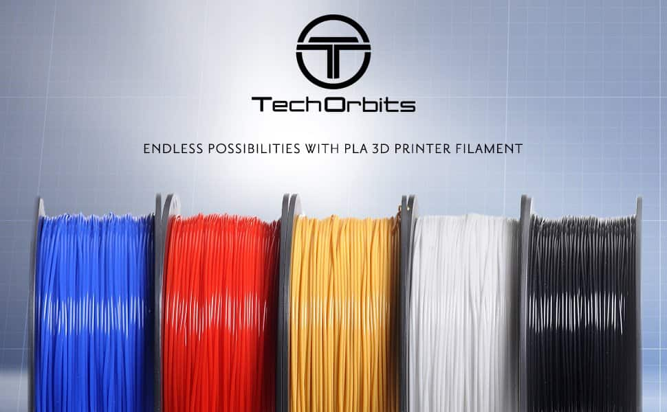 2.2lb TechOrbits 3D Printer PLA Filament Red/Orange 1.75mm - $9.99 @Amazon w/Prime