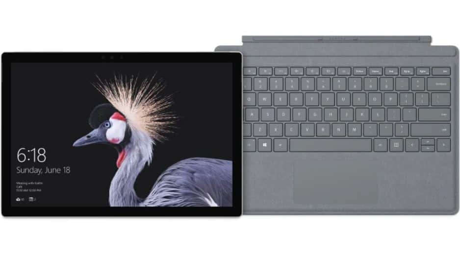 $799 for Microsoft Surface Pro 12.3 - Intel Core i5 - 8GB Memory - 128GB SSD (latest Model) with platinum signature Type cover in Microsoft official store
