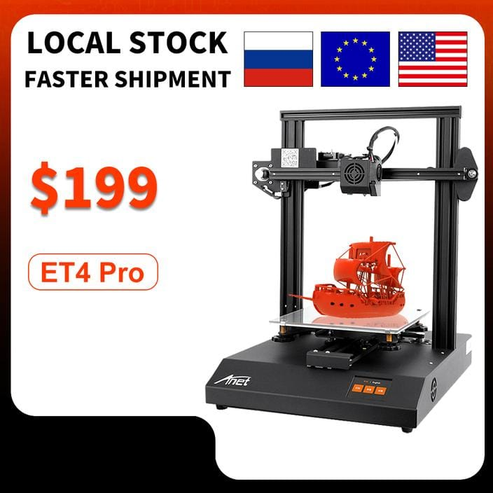 ET4 Pro 3D Printer With TMC2208 Stepper Driver -$199