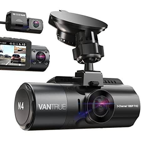 Vantrue N4 3 Channel Dash Cam + Q1 Wireless Car Charger is $229.99 + Free Shipping