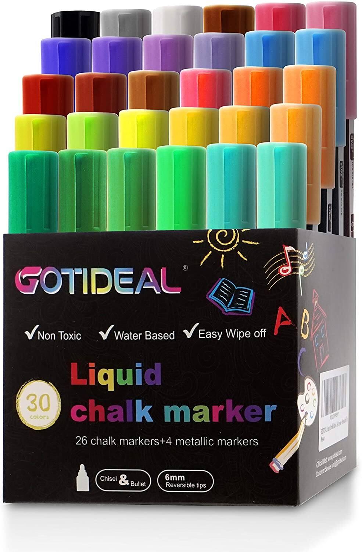 GOTIDEAL 30 Colors Liquid Chalk Markers (Amazon) $16.12