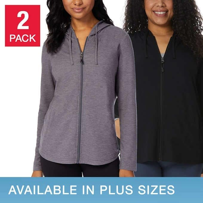 Costco 32 degrees ladies zip up hoodies  - $9.97
