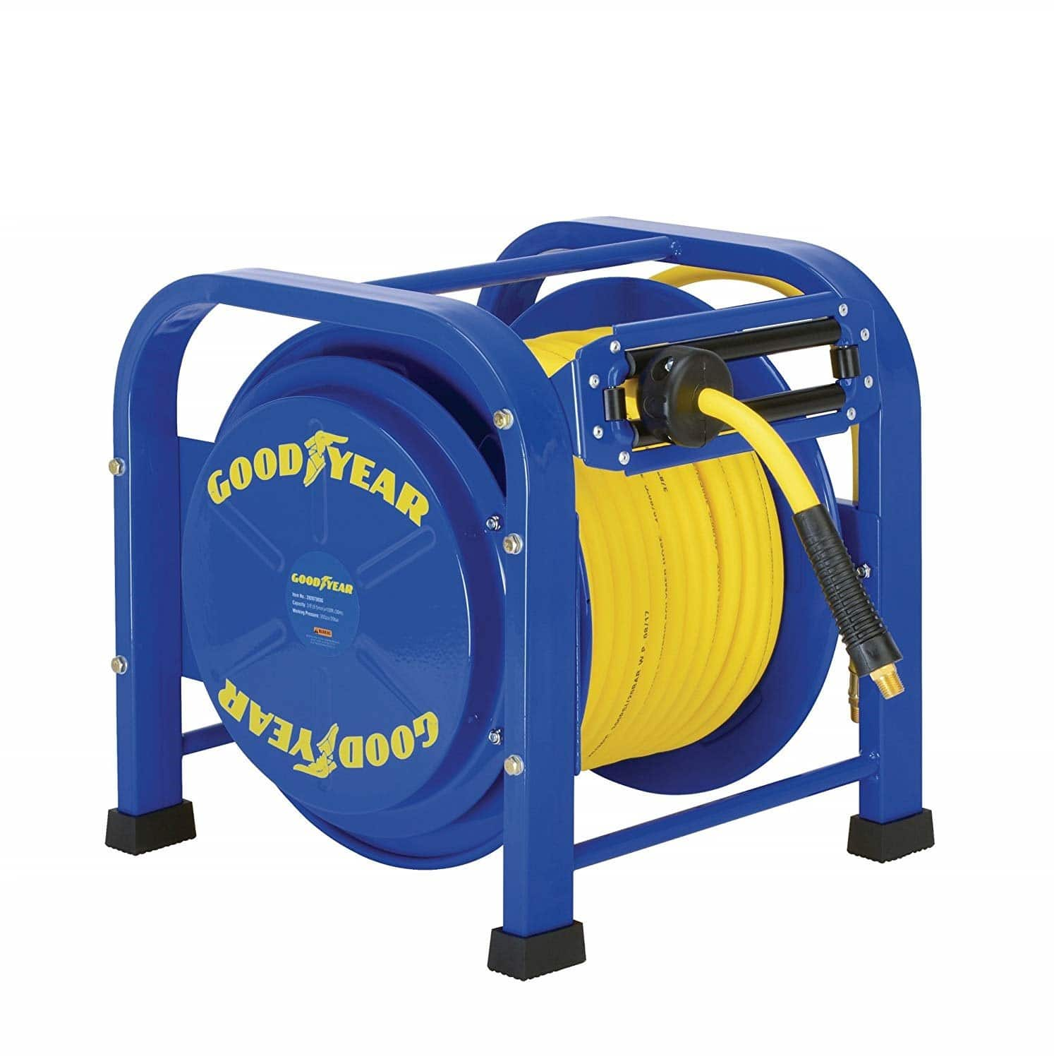 GOODYEAR Air / Water Hose Reel Retractable Spring Driven Steel Elite Portable Heavy Duty $152.99